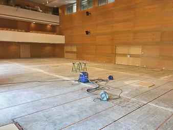 Kulturzentrum Lenzing OÖ Induktionsschleife verlegt