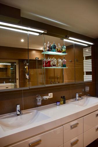 miroir sèche serviette