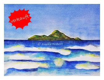 30 x 40, Aquarellfarbe und Pastellkreide auf Aquarellpapier