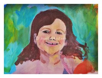Collage, mixedmedia DIN A4 (Foto, Acryl, Pastellkreide, Buntstifte)
