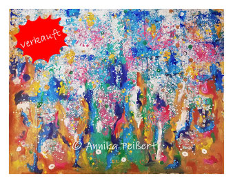 Acryl auf Baumoll-Leinwand, ca. 145 x 180 cm