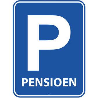 Deurbord Pensioen 37×50 cm € 2,50
