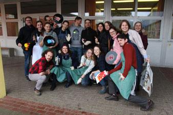 Streetart-Workshop der deutsch-russischen Jugendleiter-Gruppe in der Buxtehuder IGS