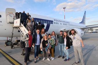 Unsere SJR-Delegation auf dem Weg nach Tel Aviv.