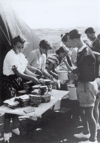 Essensausgabe beim Vegesacker Chor