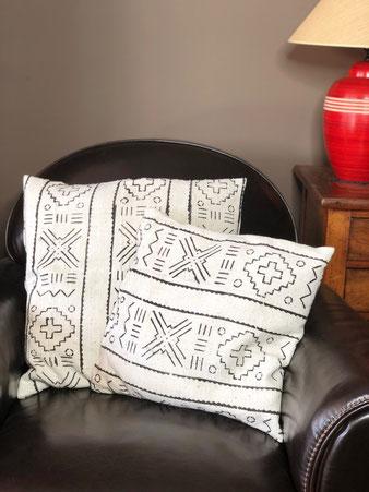 Mudcloth Pillow - Coussin en Bogolan