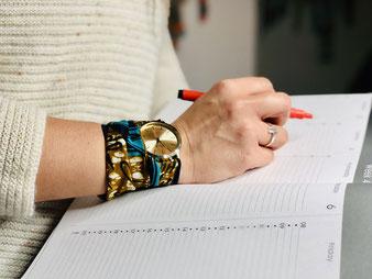 Montre avec bracelet en wax interchangeable