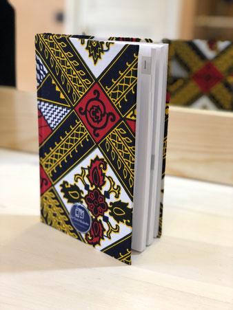 Carnet en wax - Agenda en wax - Papeterie colorée originale