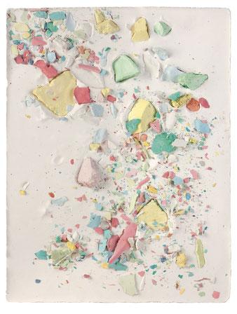 Plaster Painting #1, 2015, pigmented plaster on plaster, 33x24cm  Foto: Anna Lott Donadel