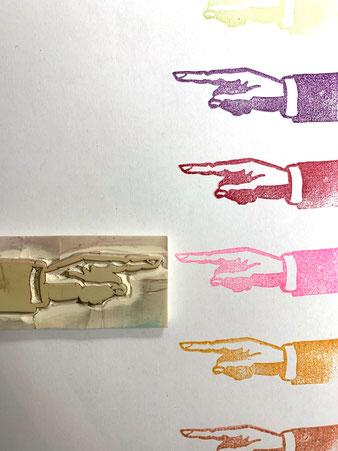 Handgeschnitzer Stempel (mehr...)