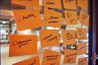 Wortsammlung für Beschriftungen (Foto: Design Offices)