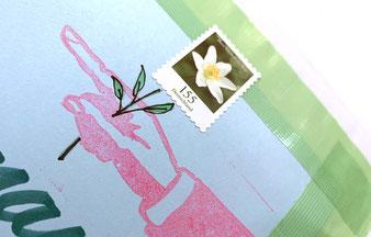 Stempel »Hand« auf Briefumschlag