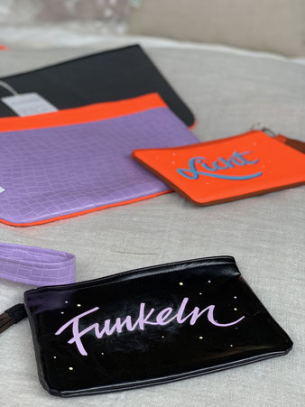 Taschen mit individuellen Beschriftungen