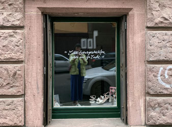Schaufenster VIDA Brautatelier (Foto: Dijana Hammans)