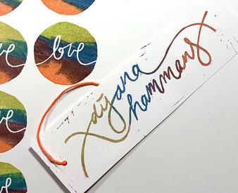 Stempel Logo & »love« (Dijana Hammans)