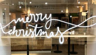 Schaufensterbemalung »merry christmas« (mehr...)