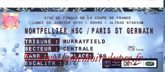 Ticket  Montpellier-PSG  2014-15