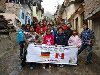 """Die Kinder der Escuela Caminante sagen """"Danke""""!"""