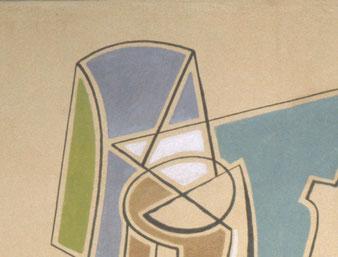 peintures murales après intervention, Atelier Bacher Tillmanns, Vaud