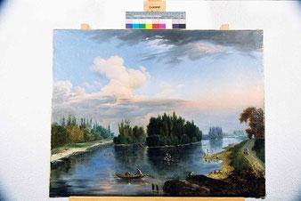 Landschaft mit Fischern, nach den Massnahmen