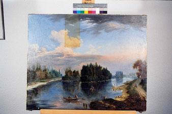restauration de tableau sur toile Vaud