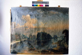 restauration de tableau sur toile