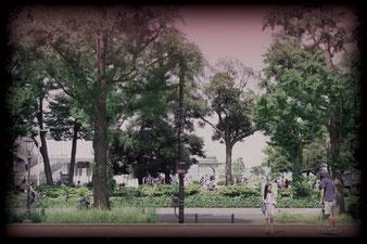 通りの向かい側はすぐ山下公園・大さん橋!