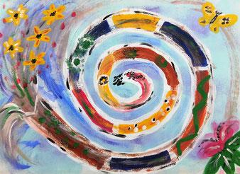 Herbst auf dem Land von Christine Lukas aus Streifzüge in Farbe