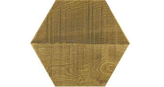 ラフブラウン オーク 六角形タイル 木製タイル モザイクタイル ブイジュウニ V12 ブイジュウニフローリング ビンテージプラス ビンテージ アンティーク フローリング 無垢フローリング エイジング リノべ リノベーション おしゃれ インテリア ビンテージプラス vintage antique flooring