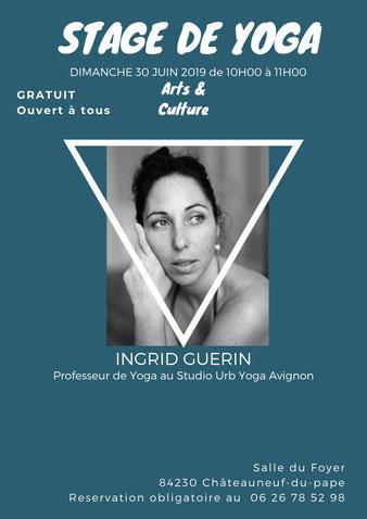 sTAGE Découverte du YOGA/ Proposé par INGRID GUERIN