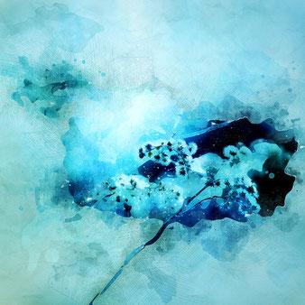 Eisblume in Blau