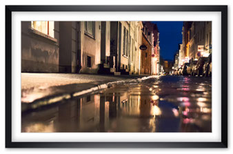 Spiegelung auf der Strasse