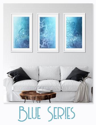 Ornamente in Blau