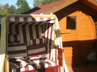 von der Sauna direkt in den Strandkorb