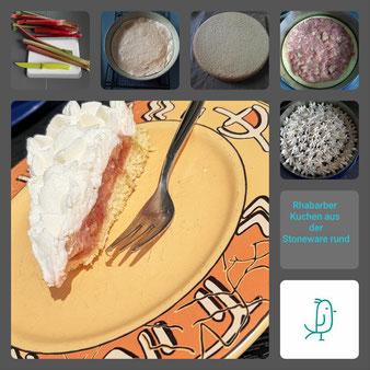 Rhabarberkuchen aus der Stoneware rund von Pampered Chef®