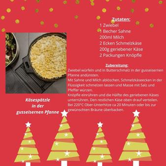 Käsespätzle aus der gusseisernen Pfanne von Pampered Chef