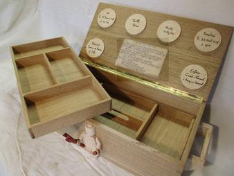 intérieur du coffre en bois