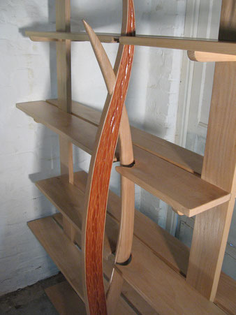 Meuble bois, étagère en hêtre. CCL ébéniste