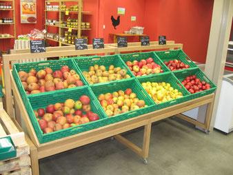 Fabrication sur mesure, meuble fruits et legumes.CCL ébéniste