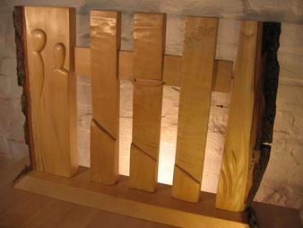 Sculpture en tilleul, cire.CCL ébéniste
