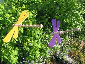 Libellules en bois de chêne, envergure de 70cm, pour la décoration jardin.CCL ébéniste