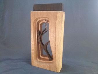 Tire-bouchon en bois de chêne.Chantournage.CCL ébéniste