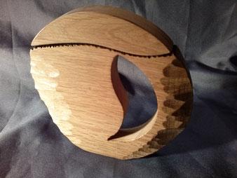 Tire-bouchon en chêne.Chantournage et sculpture.CCL ébéniste