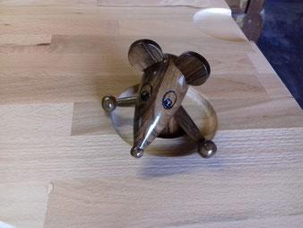 Décor souris du coffre à jouet en hêtre