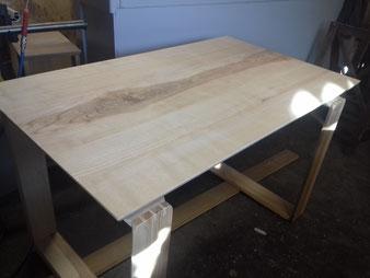 Meuble bois, bureau en frêne. CCL ébéniste