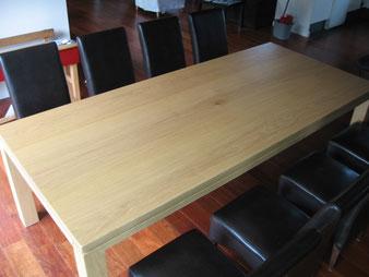 meuble bois, table en chêne.CCL ébéniste