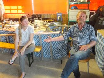 Jochi Gremels und seine Tochter Kristi