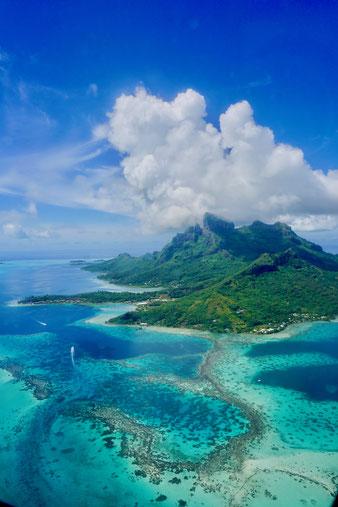 Ausblick Bora Bora, Südsee