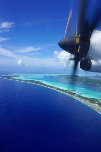 Flugzeug, Bora Bora, Südseeinsel