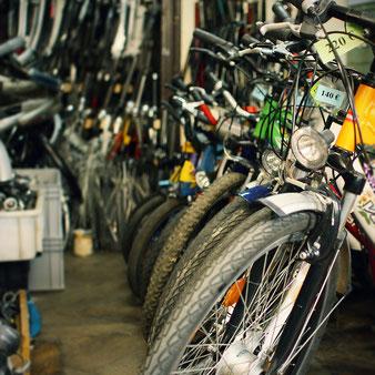 Wir kaufen auch Fahrräder für den Wiederverkauf an.